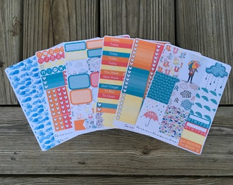 Dancing In The Rain // Weekly Planner Sticker Kit (170+ Stickers)