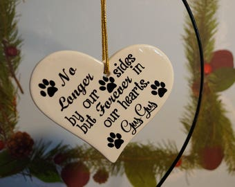 Pet Loss Ceramic Ornament--Personalized