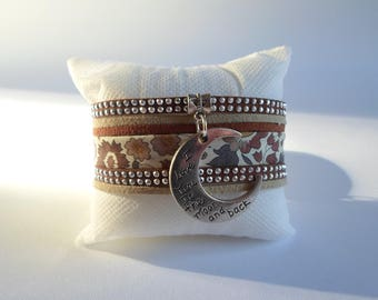 Fabric cuff and brown suede