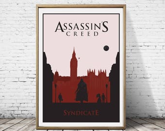 Assassin's Creed Syndicate Alternative Artwork Minimalist Minimal Game Gaming  Print Poster Wall Decor