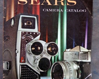 Vintage 1960 SEARS Camera Catalog Photography Equipment Supplies