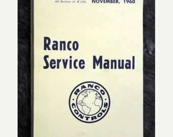 1960 Ranco Service Manual (No. 1058)