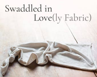 Light Knit Swaddle Cocoon - Cotton Blend