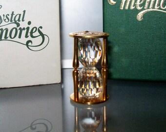 SWAROVSKI Crystal Memories Swarovski Ornaments Hour GlassSwarovski Vintage Crystal Hour Glass Gold Hour Glass Swarovski Golden Hour Glass
