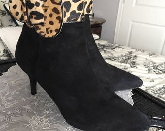 Boots - Black Suede Ankle boots