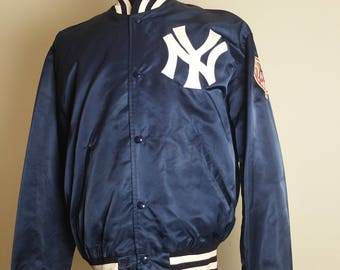 New York Yankees - Vintage Satin Starter Jacket - Large L - GUC