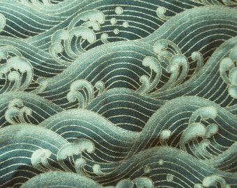 japanese waves furoshiki japanese fabric