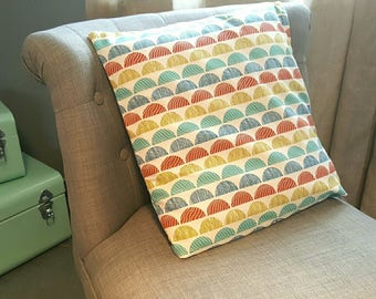 Cushion 40x40cm, vintage colors and patterns