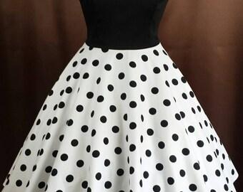 Rockabilly 50s prom swing dress polka dot
