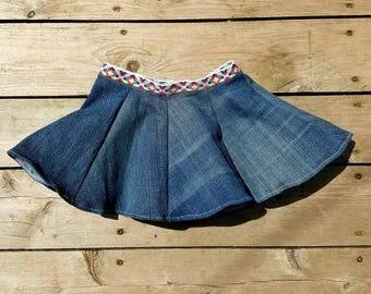 Flare jean skirt, jean skirt, skirt, summer skirt, cute skirt