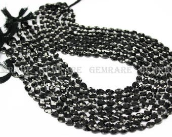 Natural Black Spinel Faceted Pear beads, Quality AAA, 4.50x6.50 to 5x7 mm, 36 cm, 45 pieces, BL-053/1, Semiprecious Gemstone Beads