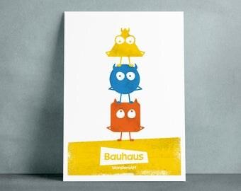 Poster MonstersArt Bauhaus