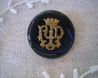 Antique blue 21 mm MOP button