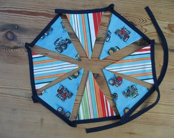 Tractor Print Bunting