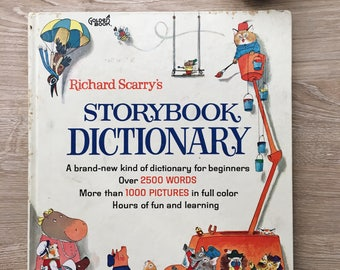 Vintage Book Richard Scarry's Storybook Dictionary from 1966
