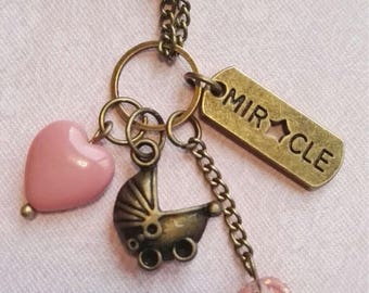 Baby girl. Babyshower gift, special gift, precancy, Necklace expecting, pregnant, gift for her