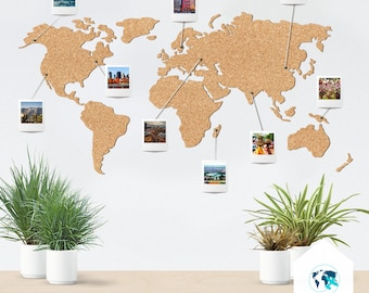 Special christmas offer cork world map discount push pin cork map push pin cork map cork board world map gumiabroncs Images