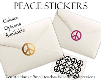 Peace Stickers - 1960's Party - Removable Vinyl - Envelope Sealing Stickers - Planner Stickers #81