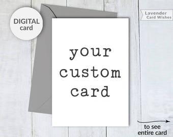 Custom printable card