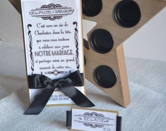 TO share wedding black and gold theme charleston