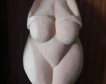 Carving sculpture inspired venus of Willendorf, large size. Single piece