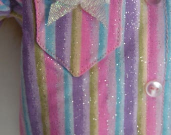 Rainbow Pajamas for 18 inch Doll
