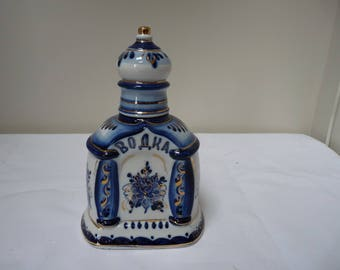 Russian Gzhel Porcelain decanter
