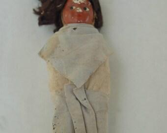 Native American Hand Made Ceramic Doll - Folk Art