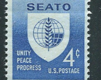 SEATO South East Asia Treaty Organization Issue Of 1960/10 Blue Unused Vintage Stamps