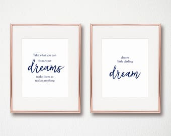 Dream, DMB, Dave Matthews Band, Navy Blue, 8x10 Instant Digital Download, Arbor Grace Collections