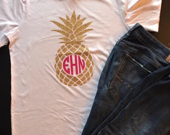 Personalized pineapple tshirt