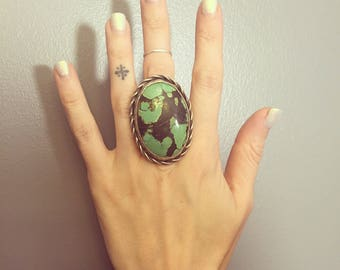 Green Turquoise Southwestern Ring