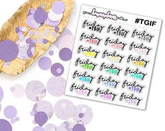 TGIF - planner functional stickers erin condren happy planner