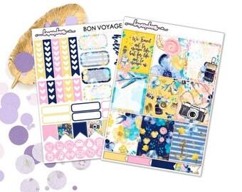 Bon Voyage (EC) Kit - Planner Stickers Erin Condren Happy Planner