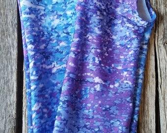 Purple Rain Print Tail Bag