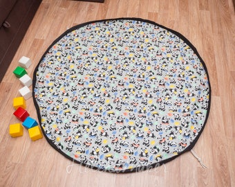 "150сm 60"" Play Mat and Toy Storage Bag All-In-One  Baby Boys&Girls Baby shower gift Playmats lego bag duplo Kids Room Decor"