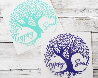 Gypsy Soul Tree of  Life Dancers Vinyl Decal   Car Window Vinyl Decal   Gypsy Soul Decal   Yeti, Tumbler, Laptop decal, Cooler decal