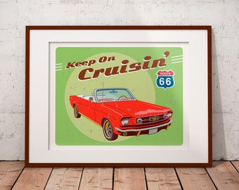 Classic Car Print - Classic Car Decor - Home Decor - Personalized Prints - Art Prints - Car Wall Art - Mustang - Chevy - Corvette - For Him