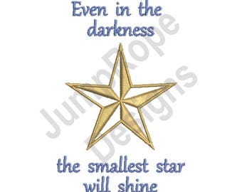 The Smallest Star - Machine Embroidery Design