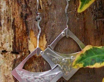 Handmade Argentium Silver Earrings