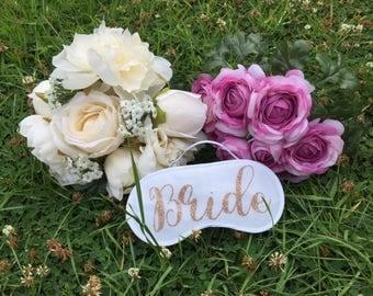 Personalised Bride Eye Mask, Personalised Sleep Mask, Sleep Mask, Bridal Mask, Bride Gift, Honeymoon Gift, Wedding Gift, Personalised Mask