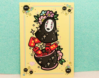 Inisde No Face! : Postcard mini print studio ghibli spirited away
