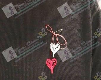 "Martishor cord/Amulet/Trinket - Snur de martisor - ""Vibrant Heart"""
