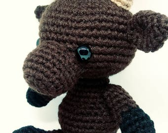 Moose plushie moose amigurumi moose toy moose stuffed animal