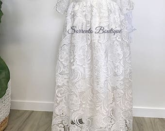 Lisa Guipure Lace Christening Gown Baptism Special Occasion