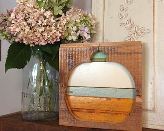 Reclaimed wood pumpkin • rustic pumpkin • whimsical pumpkin