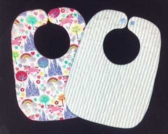 9x12 ITH Baby Bib pattern, Dimond quilted baby bib design, In-the-hoop, VERY EASY, Machine Embroidery Pattern by Pixie Willow Patterns