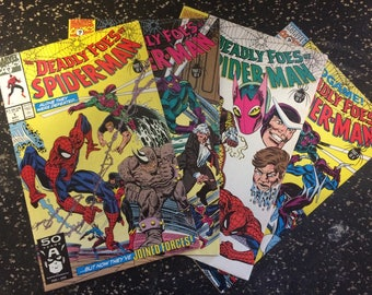 The Deadly Foes Of Spider-Man # 1-4 Comic Lot by Marvel Comics