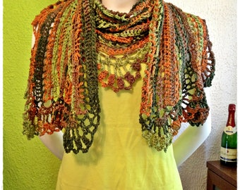 Crochet multifunctional shawl/scarf/shawl/wrap/scarves