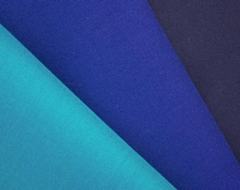 Plain Dyed Viscose- Blue Shades - 48 Inches Wide